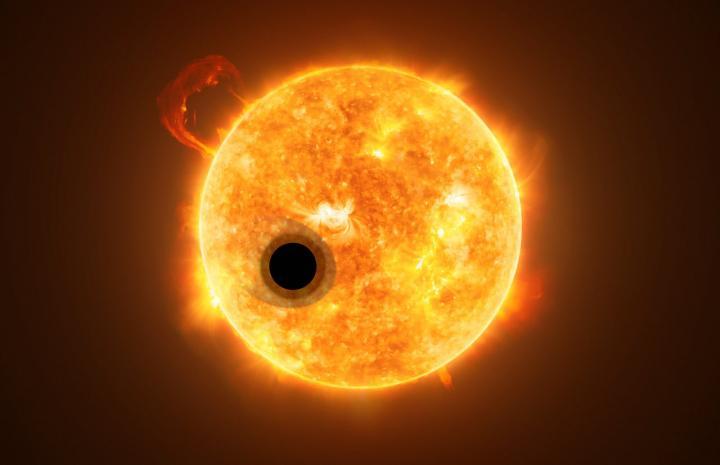 Фото №1 - В атмосфере экзопланеты впервые обнаружен гелий