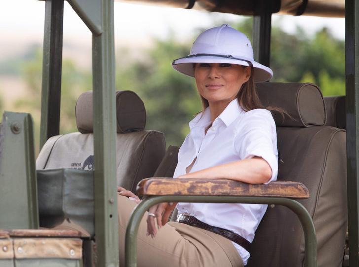 Фото №13 - Образы Брижит Макрон и Мелании Трамп в Африке: чей модный гардероб оказался удачнее
