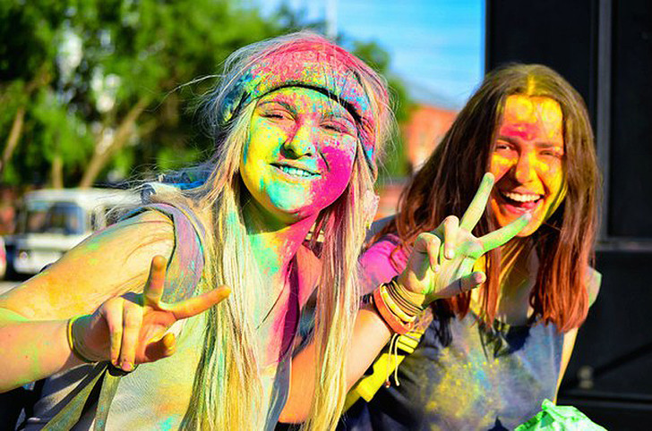 "Фестиваль красок ""Холи Фест"", фото"