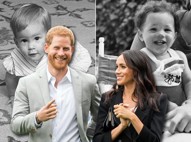 Фото №1 - Первый год жизни: как росли Меган и Гарри