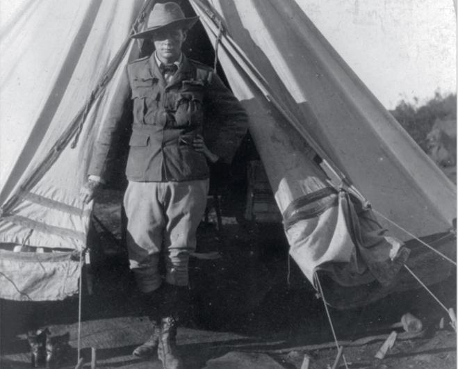 Палатка военного корреспондента