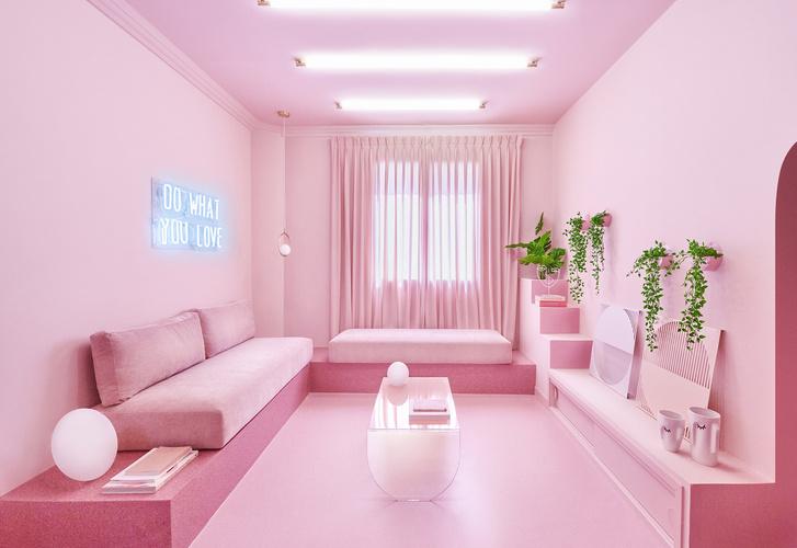 Фото №2 - Розовая квартира в центре Мадрида