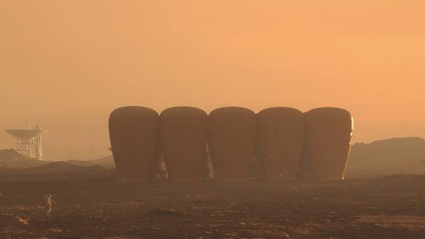 Фото №1 - Дизайн-концепт: колония на Марсе, построенная из бамбука, выращенного на Марсе (галерея)