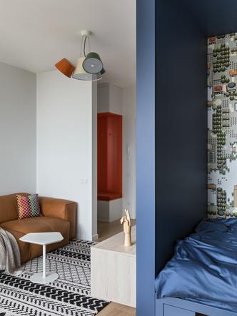 Фото №5 - Яркая однокомнатная квартира для работы на удаленке
