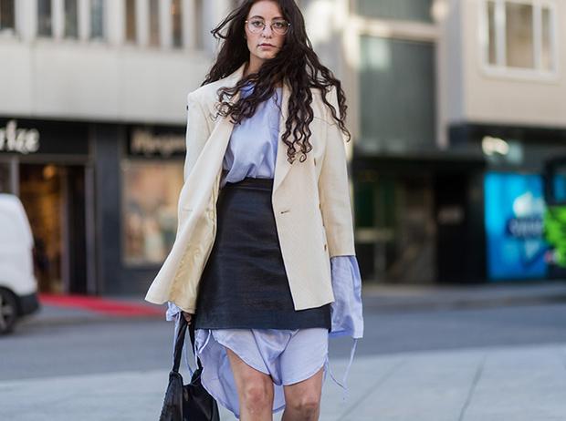 Фото №10 - Как носить самые модные юбки сезона: мастер-класс от звезд street style хроник