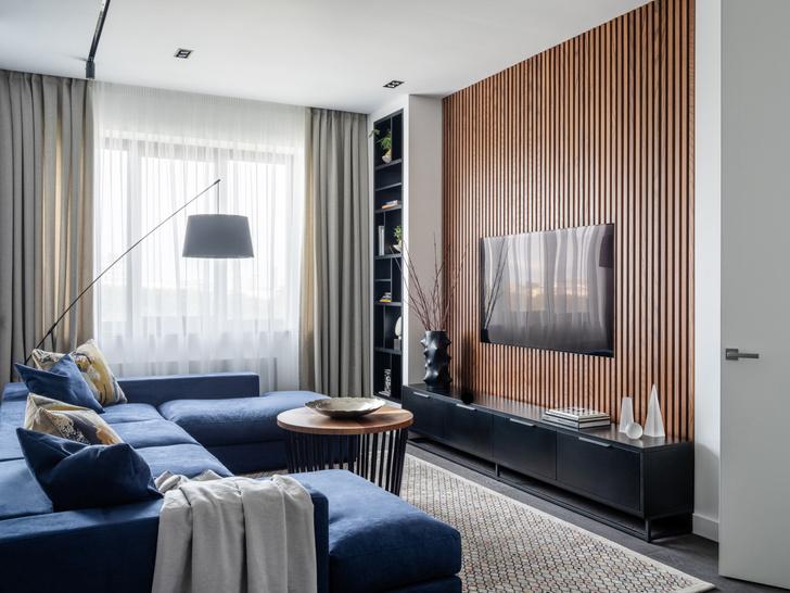 Фото №2 - Московская квартира 120 м² с красно-синими акцентами
