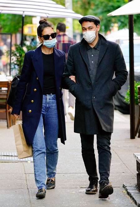 Кэти Холмс и Эмилио Витоло в Нью-Йорке
