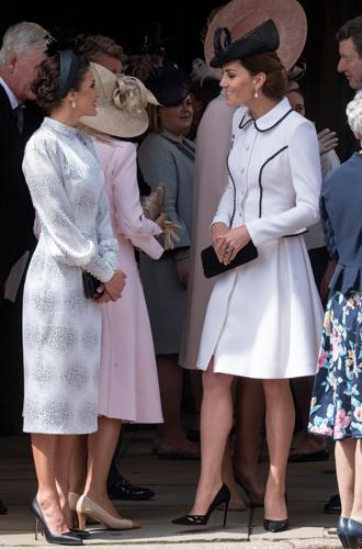 Фото №3 - Герцогиня Кейт повторила образ Дианы на церемонии Ордена Подвязки