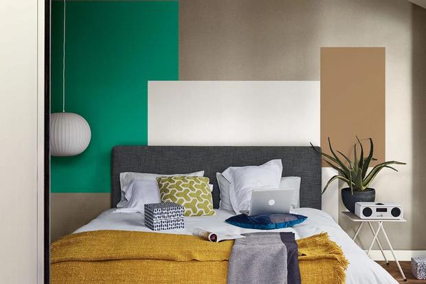 Фото №1 - Цветные сны: Color Blocking в спальне