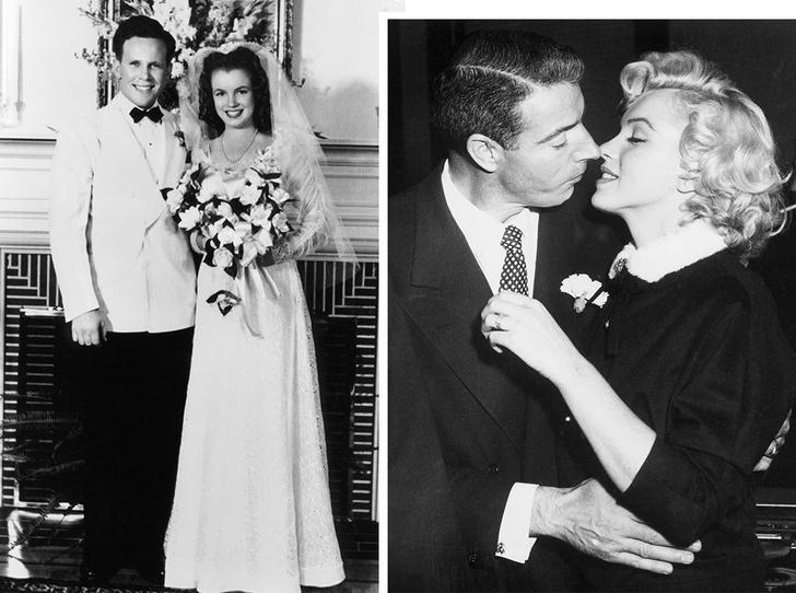 Фото №1 - Три свадьбы Мэрилин Монро: в чем выходила замуж главная блондинка Голливуда