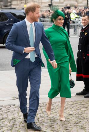 Фото №19 - Их модные Высочества: лучшие парные образы Меган и Гарри