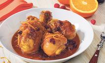 Цыпленок в апельсиново-имбирном соусе