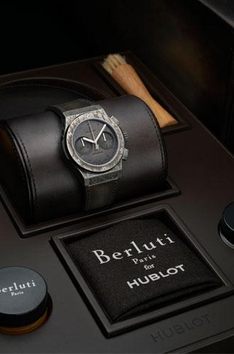 Фото №3 - Коллаборация класса «люкс»: Hublot и Berluti представили совместную модель часов