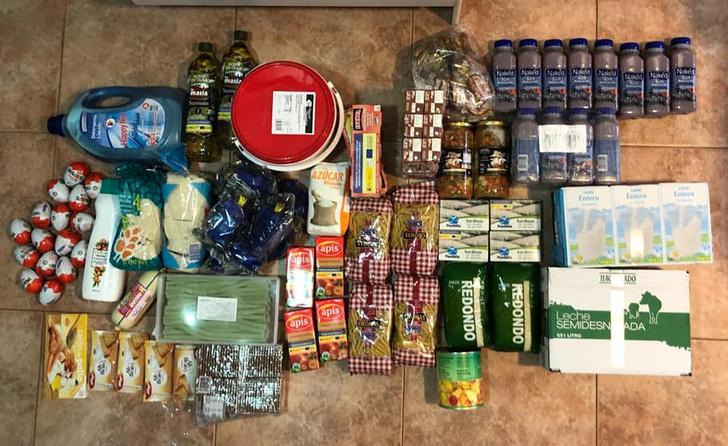 Фото №1 - Русская мама показала и рассказала, какой продуктовый набор получила ее семья от правительства Испании