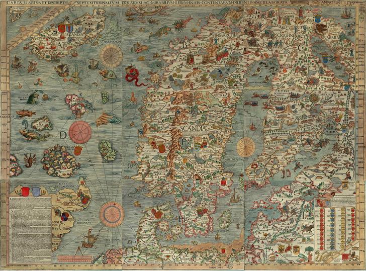 Фото №1 - Карта: хюгге XVI века на Carta Marina