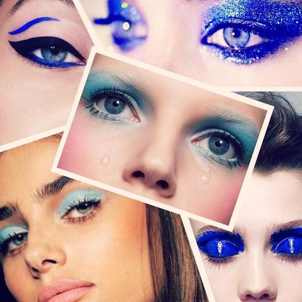 Фото №1 - Feel Blue: 5 идей макияжа в главном цвете 2020