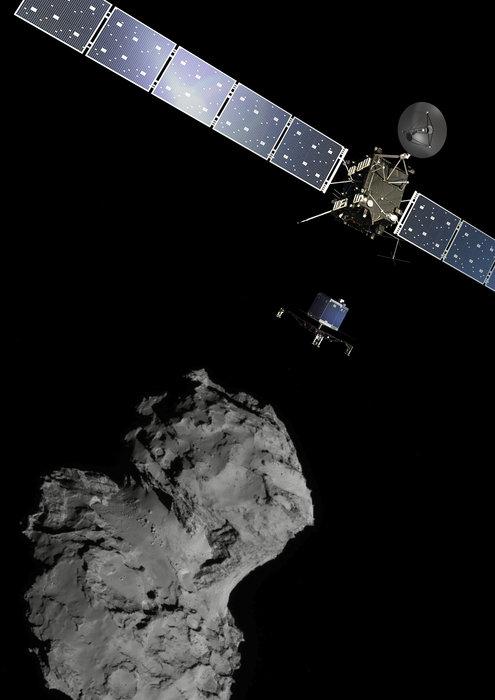 Фото №1 - Сегодня модуль «Розетты» встречается с кометой 67P/Чурюмова–Герасименко