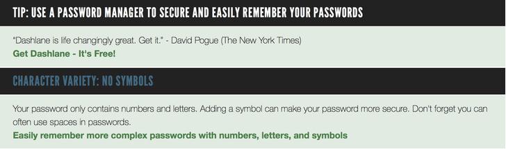 Фото №4 - Сайт дня: Проверь пароли от соцсетей на прочность