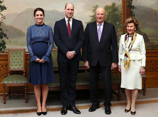 Фото №8 - Кейт Миддлтон и принц Уильям в Норвегии: день первый
