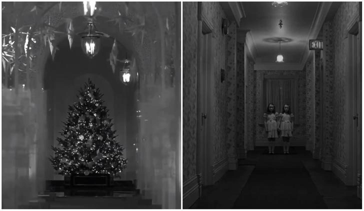 Фото №1 - Рождественское оформление Меланьи Трамп сравнили с «Сиянием» (видео)