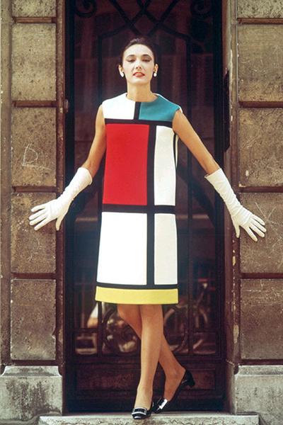 Фото №1 - Макияж по мотивам платьев «Мондриан» Ива Сен-Лорана