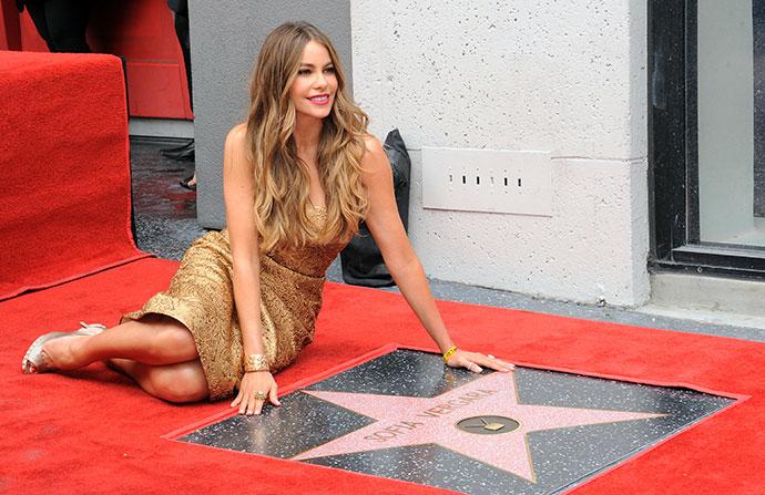 София Вергара получила звезду на Аллее славы в Голливуде