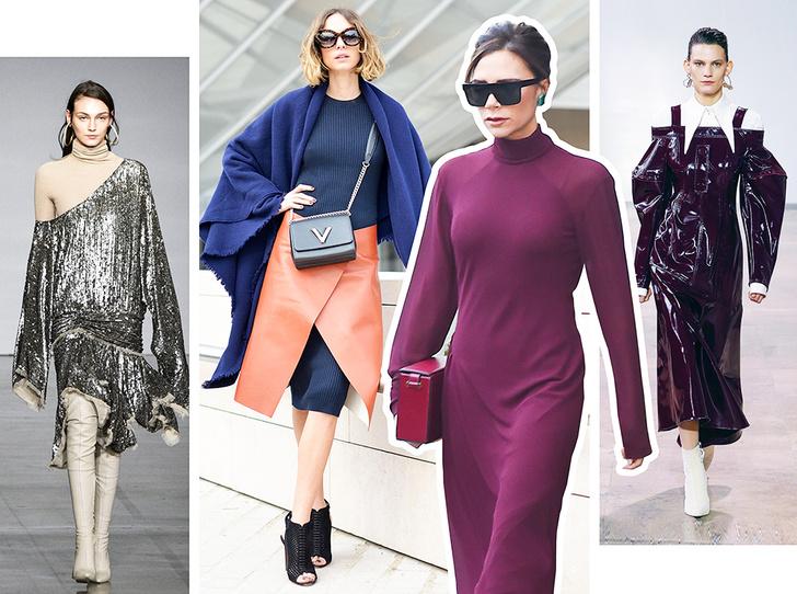 Фото №1 - Платье зимой: 4 небанальных (и теплых) способа его носить