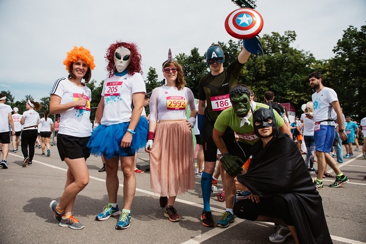 Фото №3 - В Москве состоялся самый красочный забег года