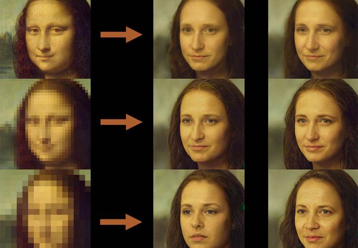 Фото №1 - Эта нейросеть превращает пиксельные фото в чёткое изображение. Да, как в сериалах про детективов
