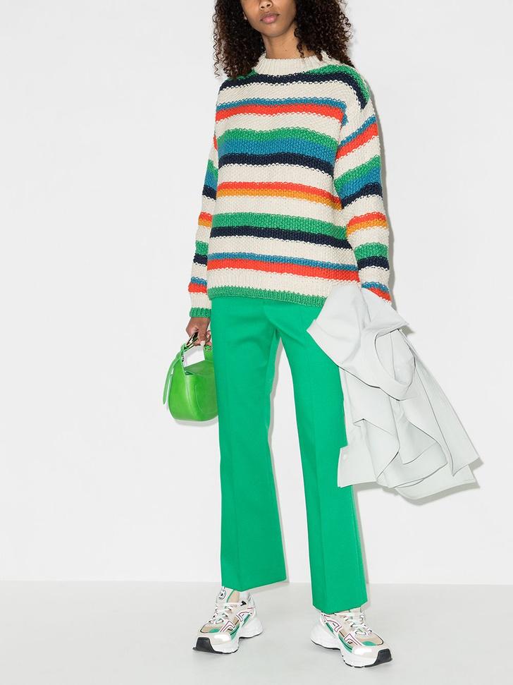 Фото №3 - Полосатый свитер— модное спасение от осенней хандры. И вот 10 классных вариантов на каждый день