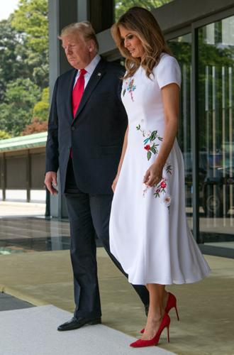 Фото №3 - Дональд и Мелания Трамп прилетели в Японию