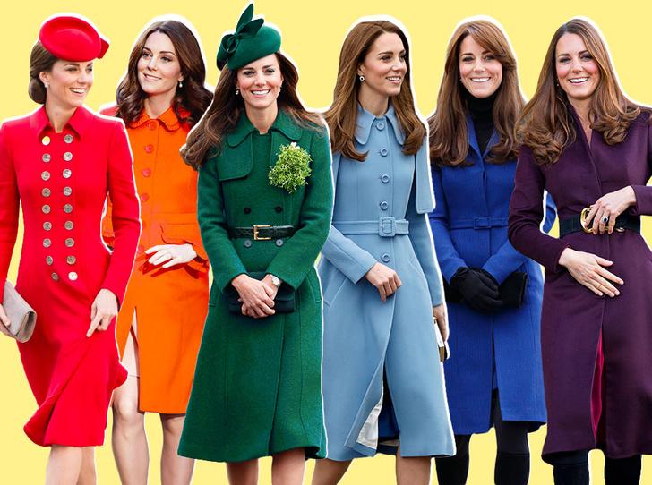 Фото №1 - Все цвета радуги: почему герцогиня Кейт так любит яркие пальто