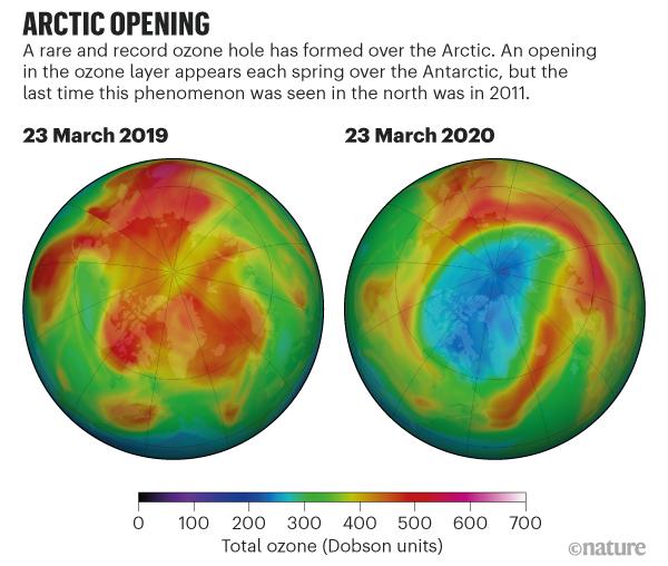 Фото №1 - Над Арктикой появилась огромная озоновая дыра