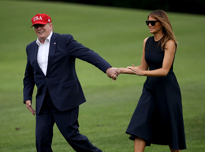 Фото №3 - Дональд Трамп сравнил свою супругу Меланию с Жаклин Кеннеди