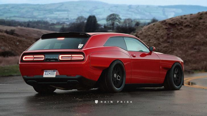 Dodge Challeneger SRT Demon легко разрывает соперников на дрэгстрипе. Но почему бы не добавить этому зверю толику практичности, которую завсегда гарантирует кузов универсал?!