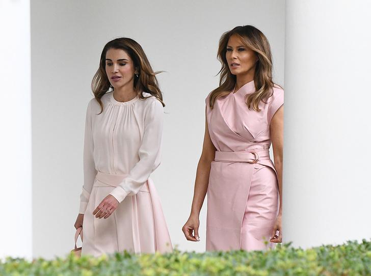 Фото №1 - Почему жены влиятельных мужчин (включая Меган и Меланию) выбирают один цвет в одежде