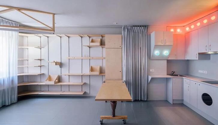 Фото №11 - Симфония цвета: маленькая многофункциональная квартира в Мадриде
