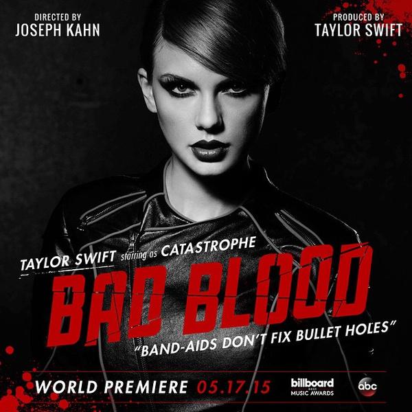 Фото №1 - Тейлор Свифт анонсировала клип на песню Bad Blood