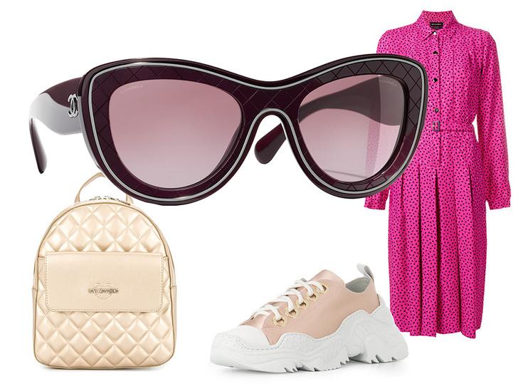 Фото №46 - Победа по очкам: 5 модных образов с главным летним аксессуаром