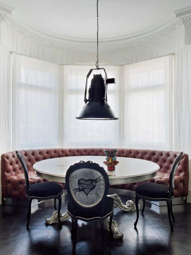 Фото №9 - Модная деталь: банкетки и скамейки в столовой