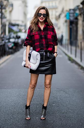 Фото №7 - Как носить самые модные юбки сезона: мастер-класс от звезд street style хроник