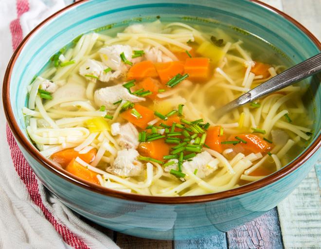 Простой и сытный суп из куриной грудки (с курицей) с вермишелью и картофелем - рецепт в кастрюле с фото пошагово вкусный
