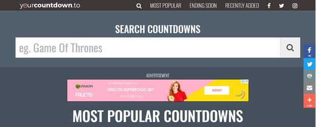 Фото №1 - Сайт дня: YourCountdown или самый крутой отсчет времени