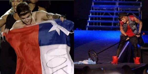 Мыть пол флагом Аргентины- не лучшая идея Джастина Бибера