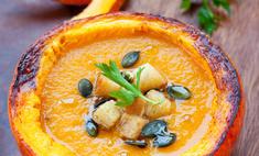 Крем-суп из тыквы с беконом