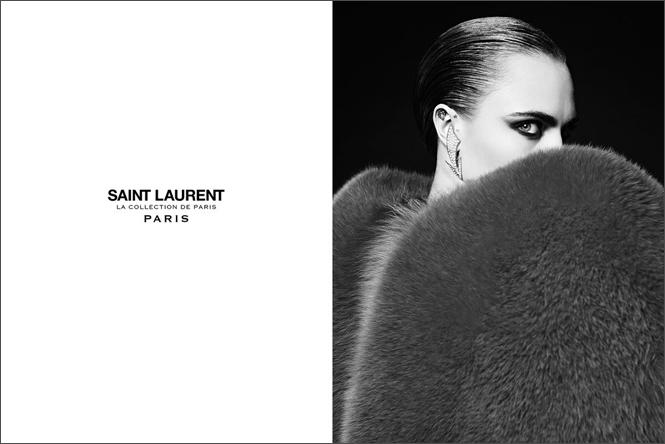 Фото №4 - Кара Делевинь в кампании Saint Laurent
