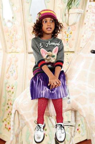 Фото №40 - Золотая карусель: лукбук осенне-зимней детской коллекции Gucci 2016/17