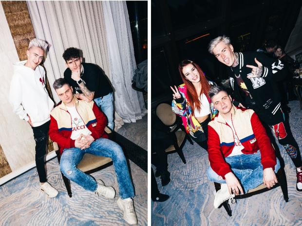 Фото №1 - Катя Адушкина, Volodya XXL и Карина Karrambaby на дне рождения своего продюсера Кирилла Диденок