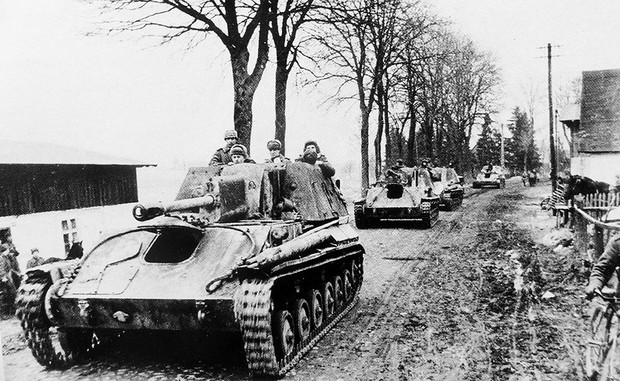 В частях Красной армии СУ-76 эффективно использовались вплоть до последних дней войны