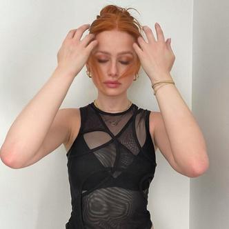 Фото №2 - Бра+асимметричная майка— новая модная комбинация от Мэделин Пэтш